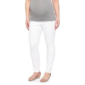 New Liz Lange Maternity White Ankle Jeans/Pants  L